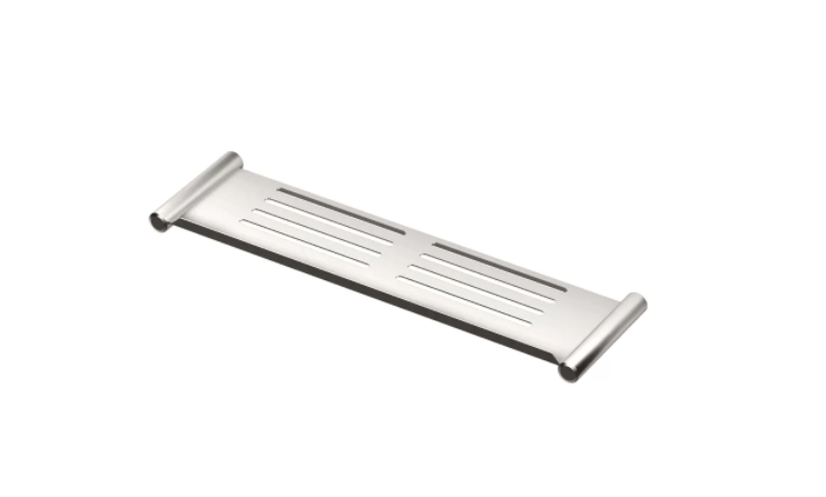 Gatco Shower Shelf in brushed chrome