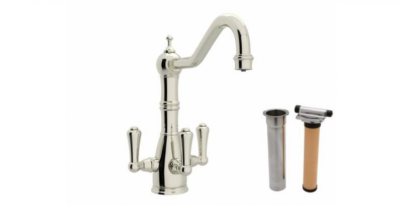 Rohl Perrin and Rowe 3-lever faucet