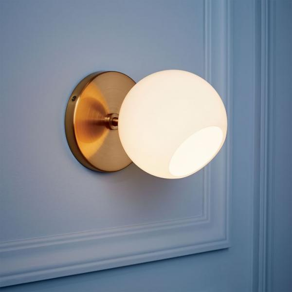 West Elm Staggered wall sconce in Brass
