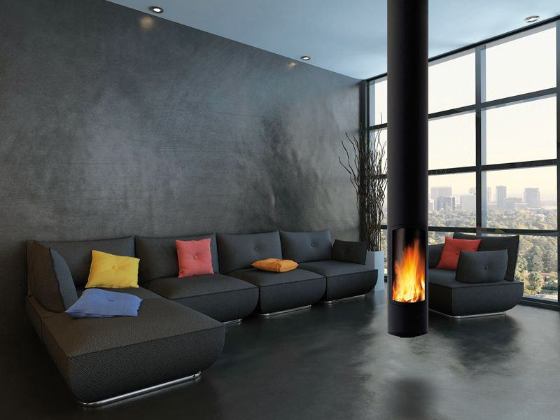 Slimfocus fireplace from Focus Fires