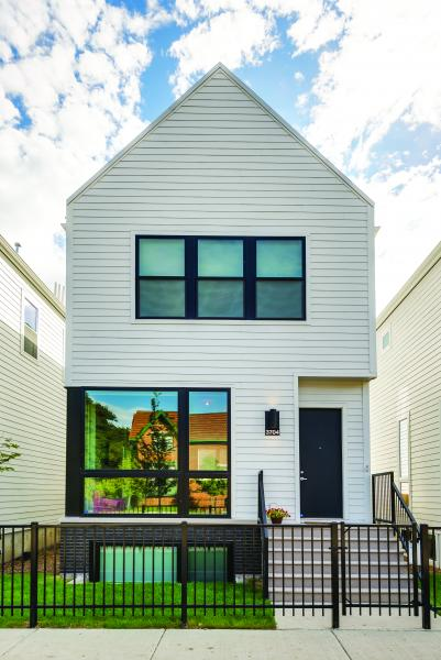James Hardie exterior siding on Basecamp Development Chicago