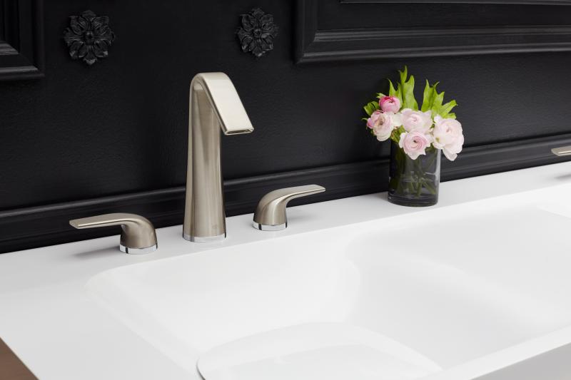 High spout widespread faucet DXV modulus