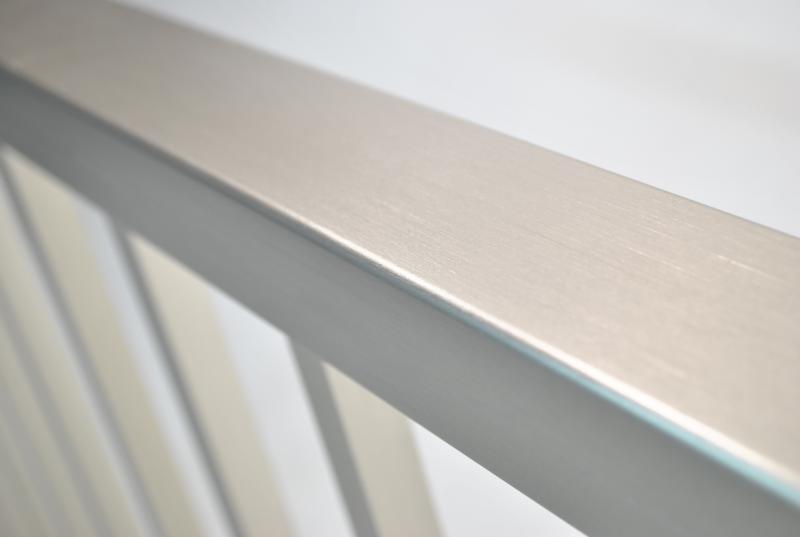 ALX contemporary aluminum railing in brushed titanium