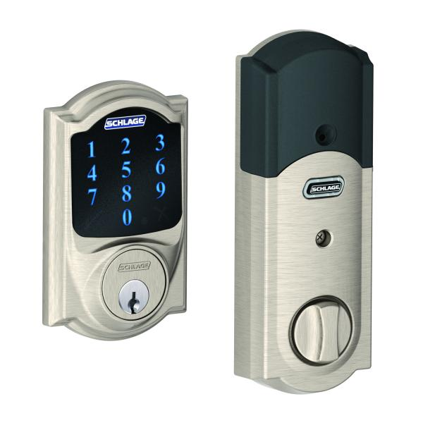 Schlage connect smart lock with camelot trim