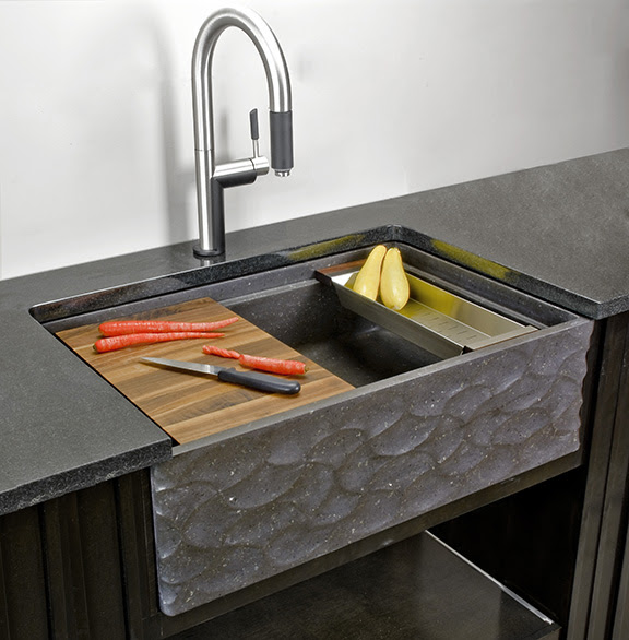 Stone Forest Wave Front apron front sink