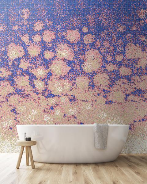 Artaic custom mosaic wall