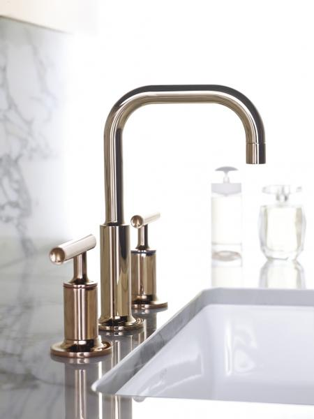 Kohler rose gold faucet finish