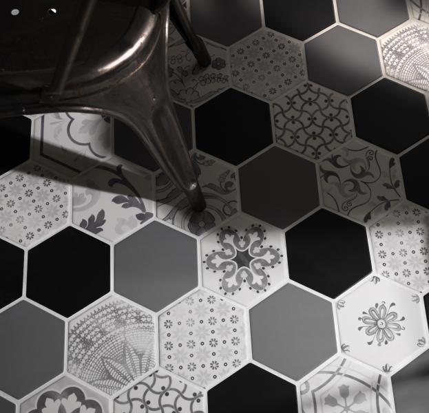 Nemo Tile and Stone Gramercy hexagon porcelain