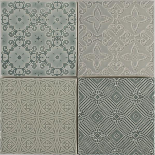 Pratt and Larson Ceramics Embossed Series tile