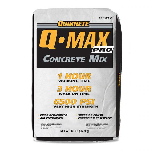 quikrete q-max concrete mix made in the USA