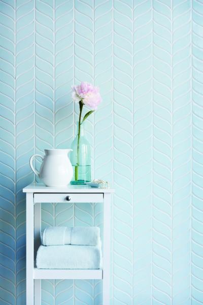 Walker Zanger 6th Avenue tiles in Ice Blue