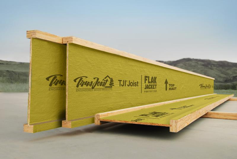 Weyerhaeuser TJI Joist with flak jacket protection made in America