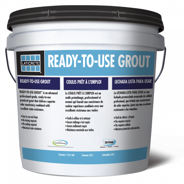 Laticrete ready to use grout