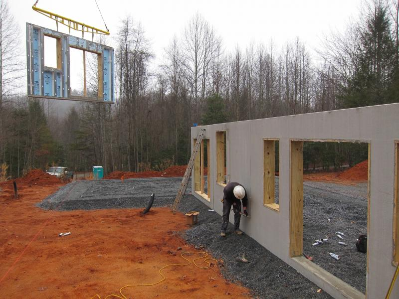 Superior Walls precast wall panels