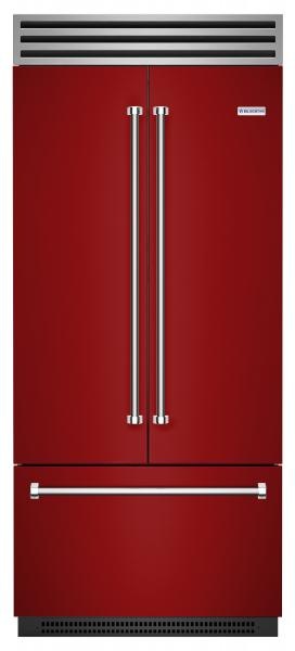 BlueStar red french door refrigerator made in america