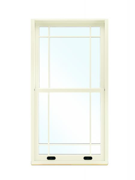 Marvin single-hung window with lift lock