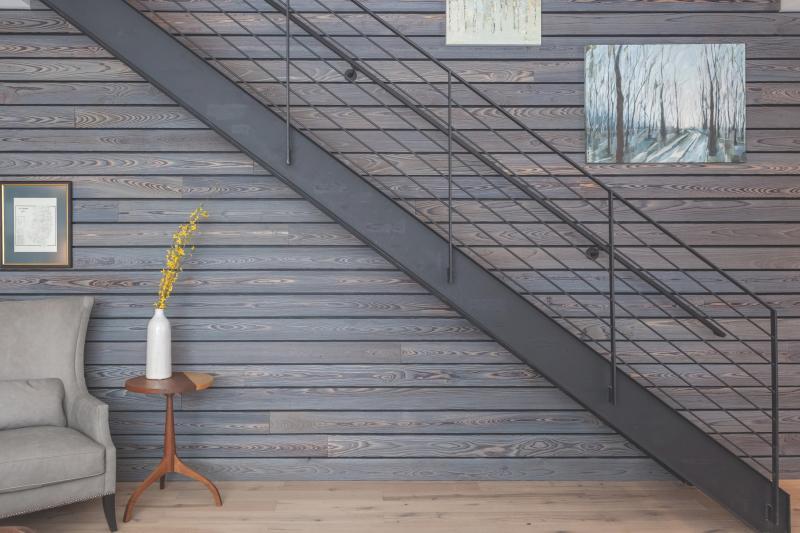 Shackamaxon project by Shila Griffith, Resawn wood planks