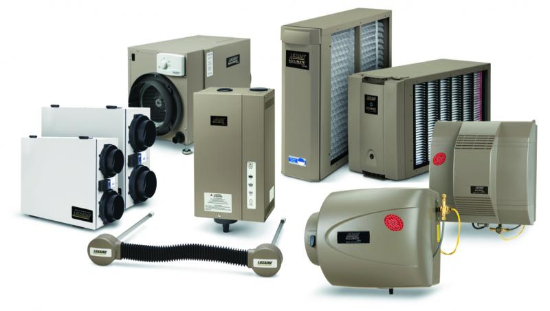 Luxaire heat recovery ventilator and energy recovery ventilator units