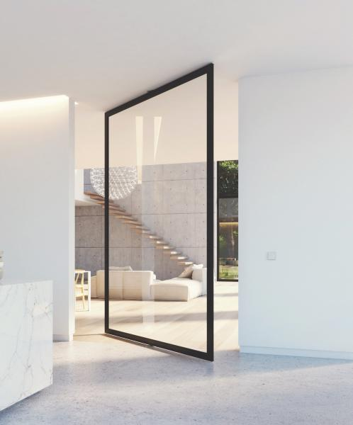 Portapivot pivot glass door