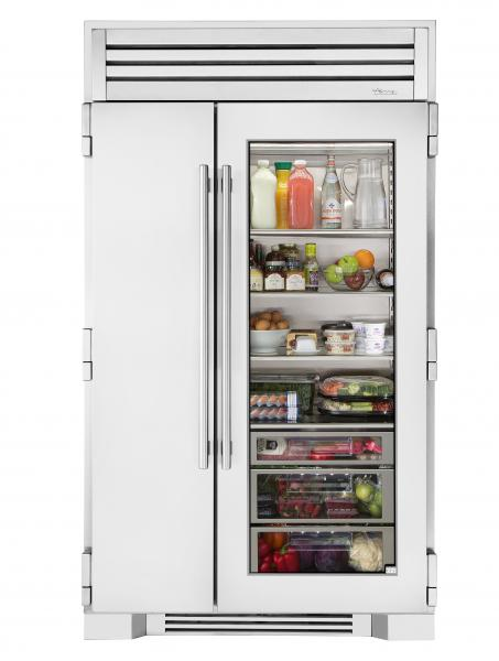 True refrigeration white glass door refrigerator