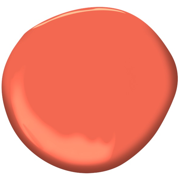 Benjamin Moore Tangerine Dream paint
