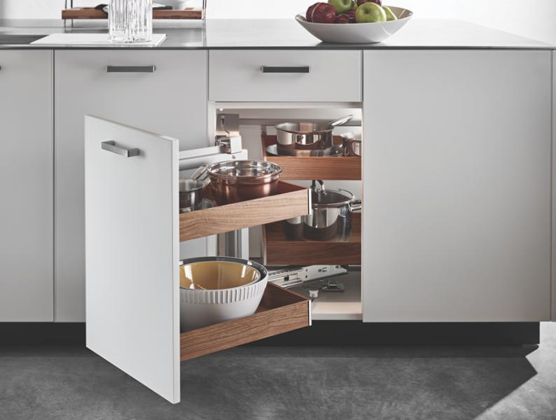 Hafele fineline universally designed cabinet