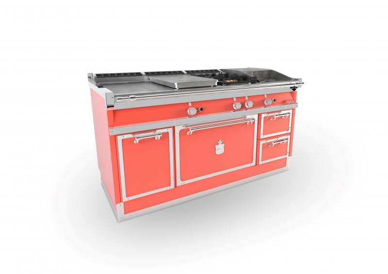 Officine Gullo professional cooking suite in coral