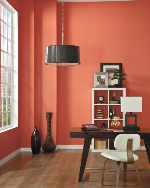 Sherwin-Williams Coral Reef paint