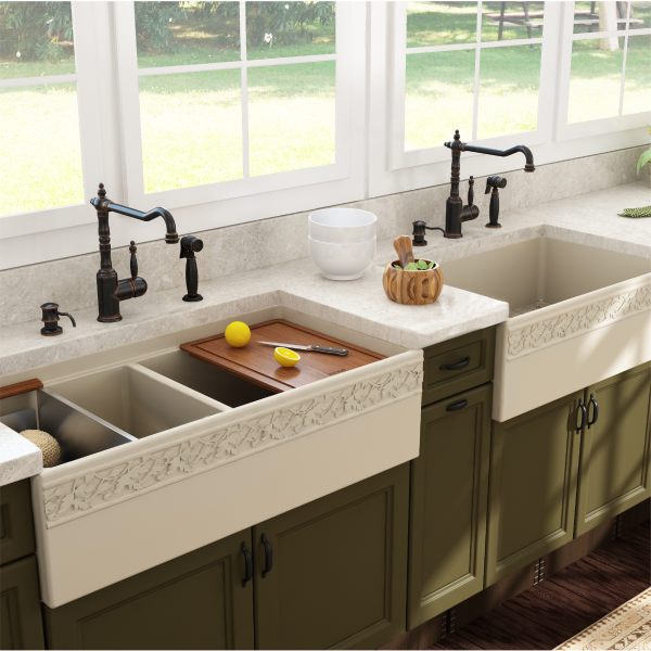 bocchi vigneto farmhouse kitchen sink - Farmhouse Kitchen Sinks