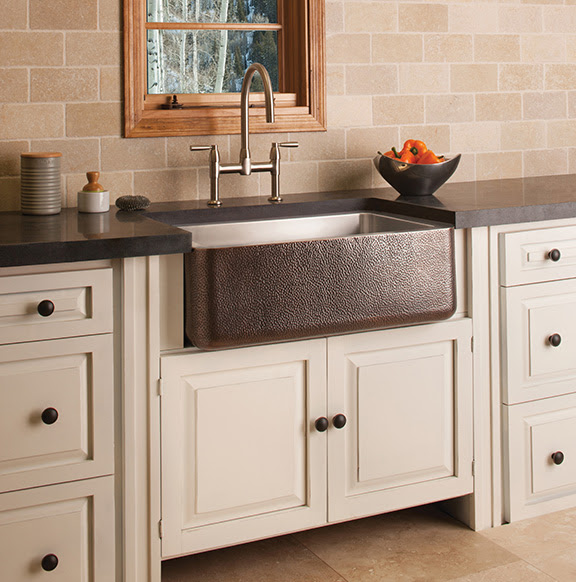 Stone Forest copper farmhouse sink